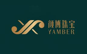 YAMBER颜博珠宝logo设计
