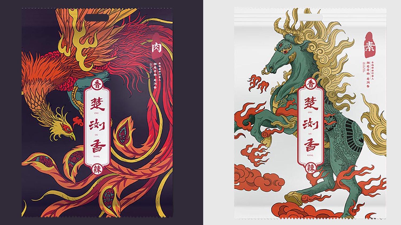 楚浏香香辣休闲食品电商品牌策划-包装设计