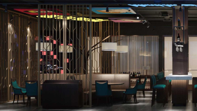 港岛印象餐厅餐饮空间设计