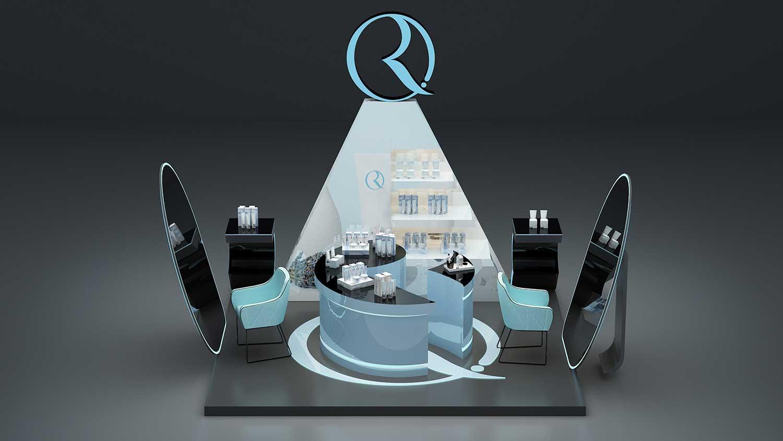 RFANNA瑞梵纳化妆品专卖店空间设计