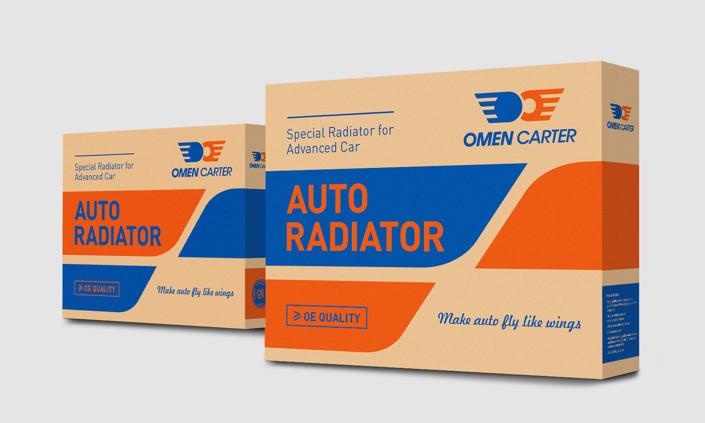 OMEN CARTER 阿曼卡特汽车散热器汽配品牌logo设计包装设计