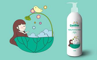 康贝小女孩系列儿童护肤品包装fun88乐天使备用-上海包装fun88乐天使备用公司