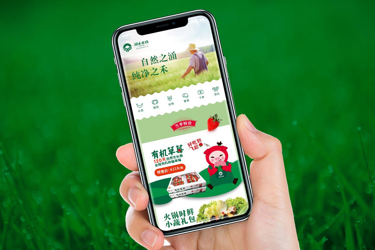 涌禾农场农产品有赞手机商城策划设计
