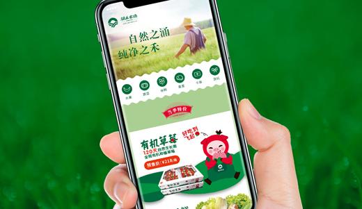 涌禾农场农产品电商有赞手机商城策划设计