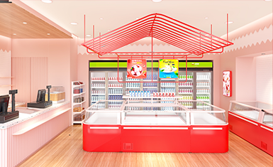 吉雪屋冷冻食品便利店连锁店铺空间设计