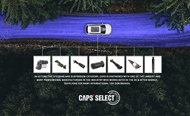 CAPS卡佩斯优选汽车减震器阿里巴巴国际站电商店铺网站设计